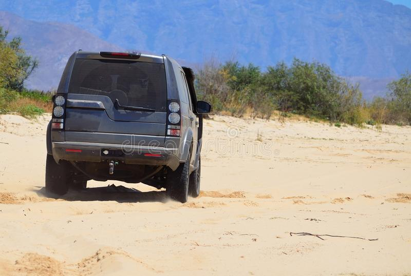 4x4 0n sand royalty free stock photo