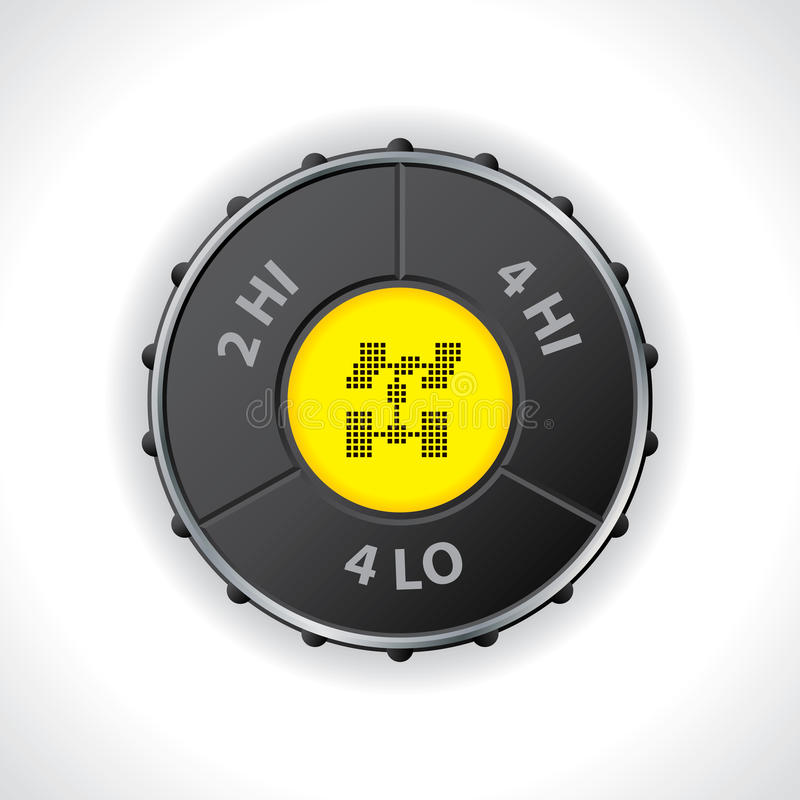 4x4 switch with differential lock royalty free illustration