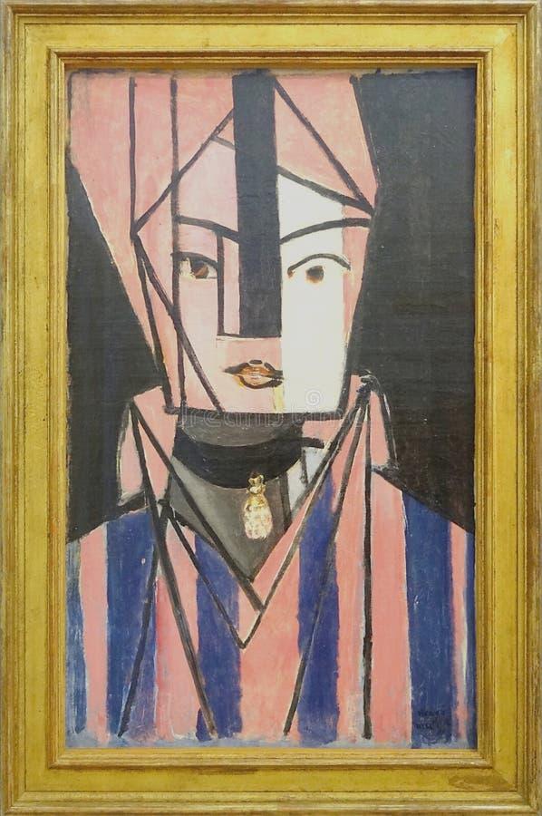 """""""Tête blanche et rose"""", Henri Matisse, automne 1914. Centre Pompidou, Paris. royalty free stock images"""