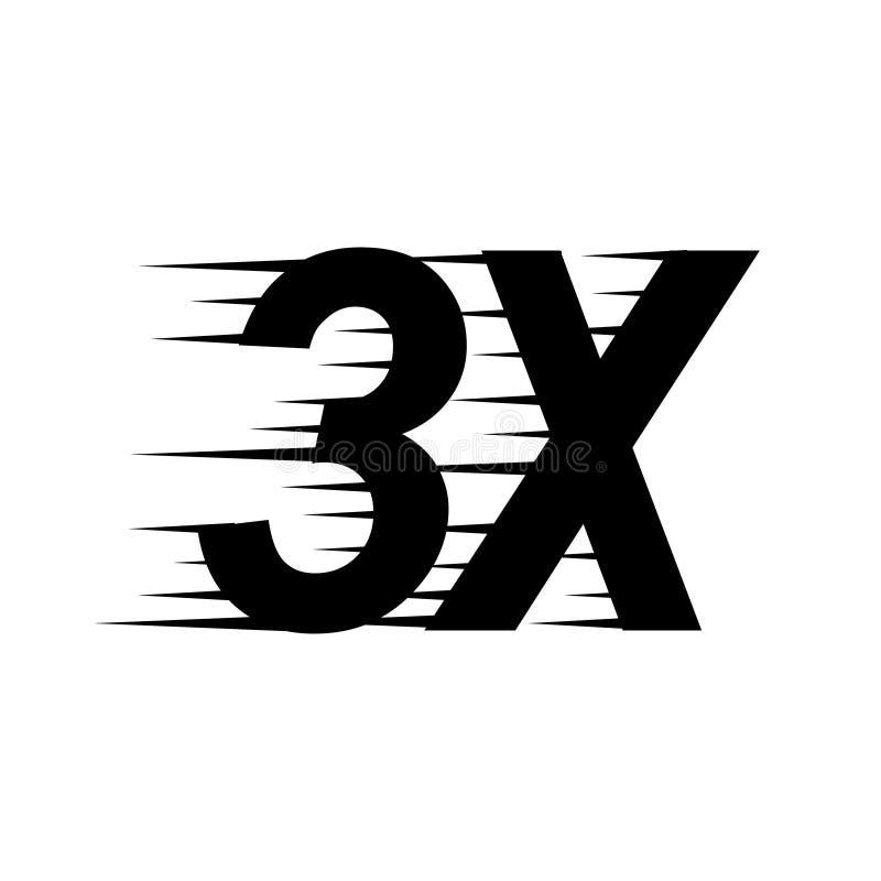 3x-tekenpictogram vector illustratie