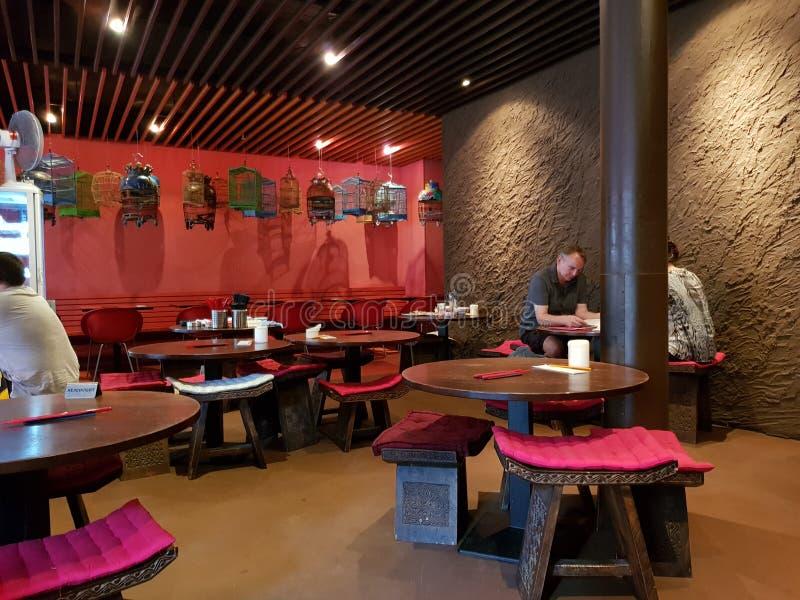 & x22; Transit& x22; Thairestaurant Berlin royaltyfria bilder