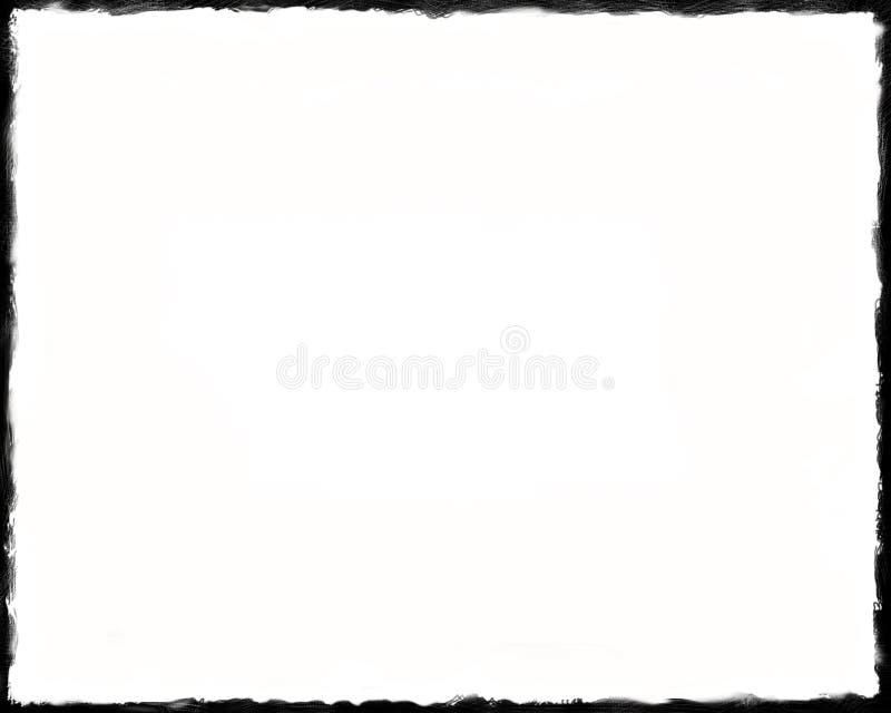 8 x10 Unikalna Czarny I Biały granica zdjęcie stock