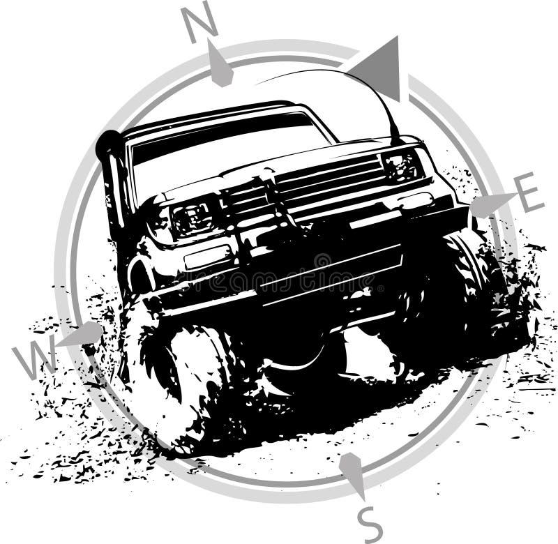 4x4 van weg stock afbeelding