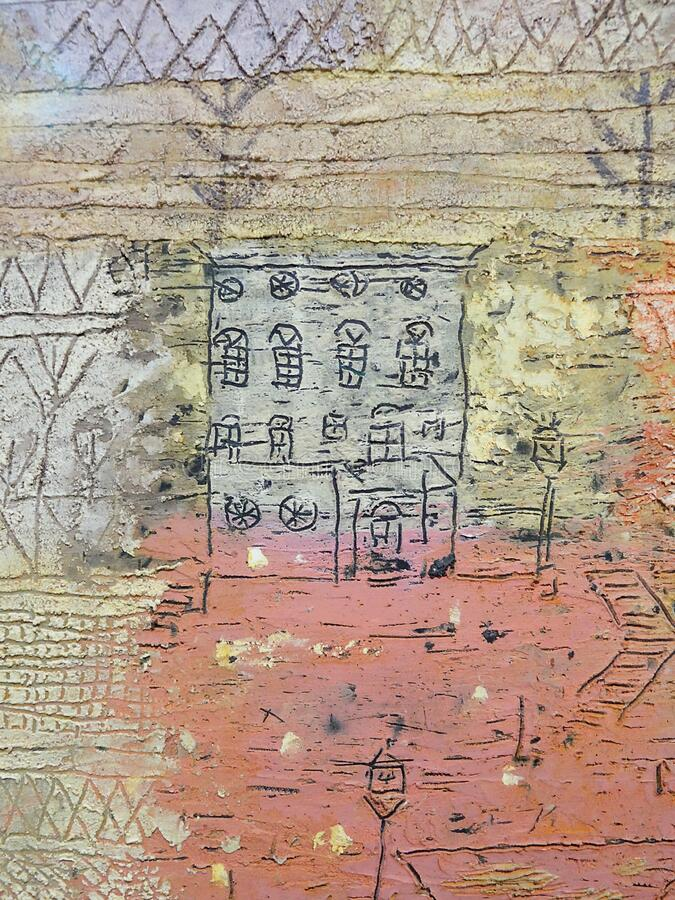 """Villas florentines"" (détail), Paul Klee, 1926. Centre Pompidou, Paris. royalty free stock photography"