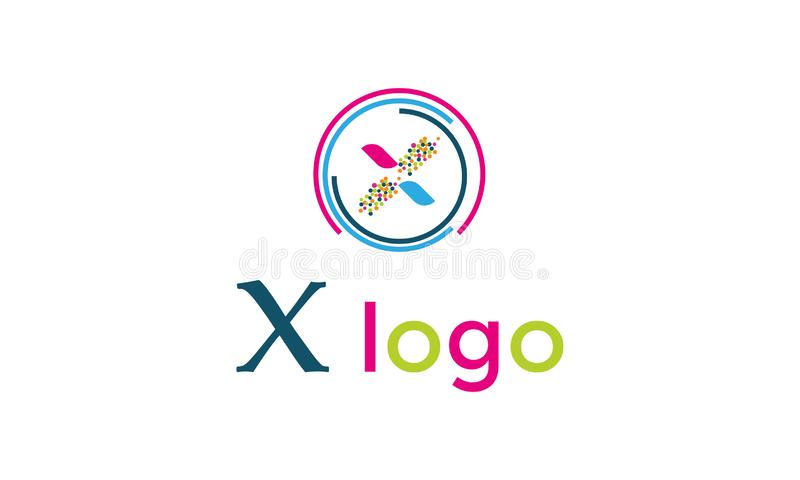 X Word Abstract Logo Icons Design Vector - X word Creative Company Logo Template бесплатная иллюстрация