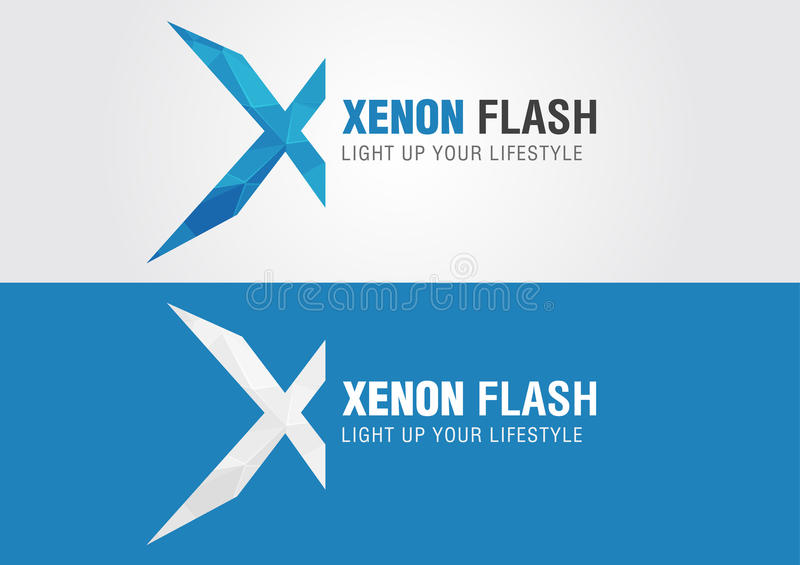 X Xenon icon symbol from an alphabet letter X. royalty free illustration