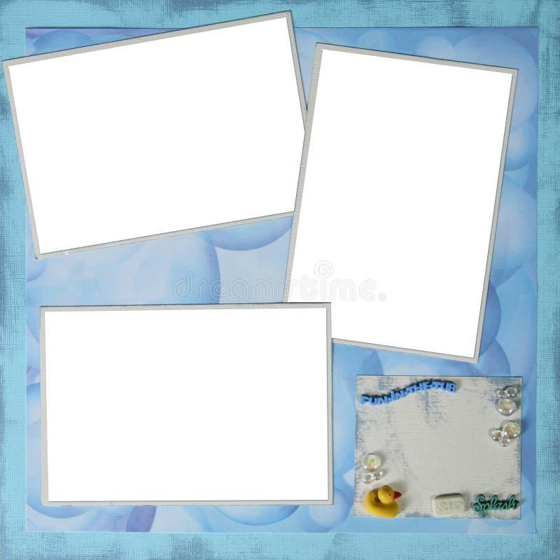 X12 da página 12 de Digitas Scrapbooking do tema do tempo do banho fotos de stock