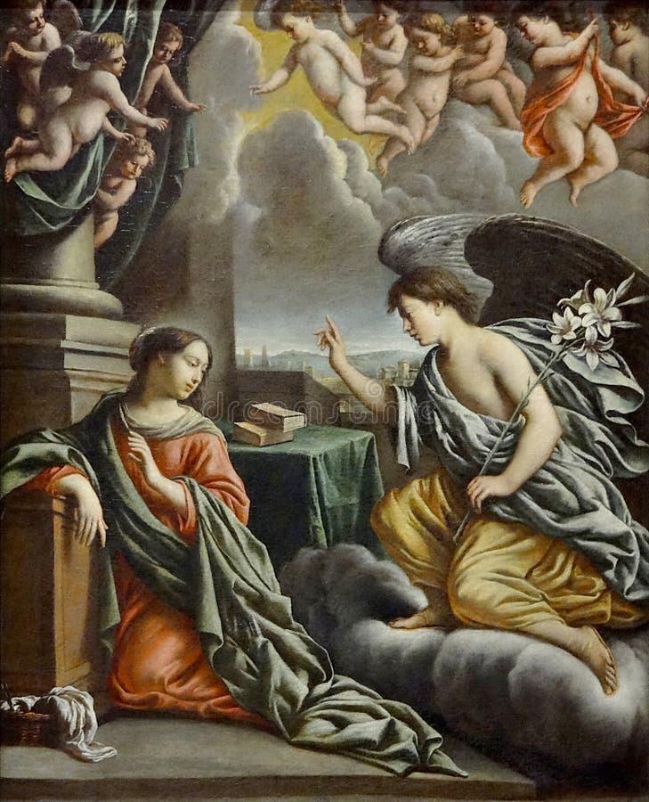 """"""" ; L' ; Annonciation"""" ; , Mathieu Le Nain, vers 1660 Autun, musée Rolin photo libre de droits"""