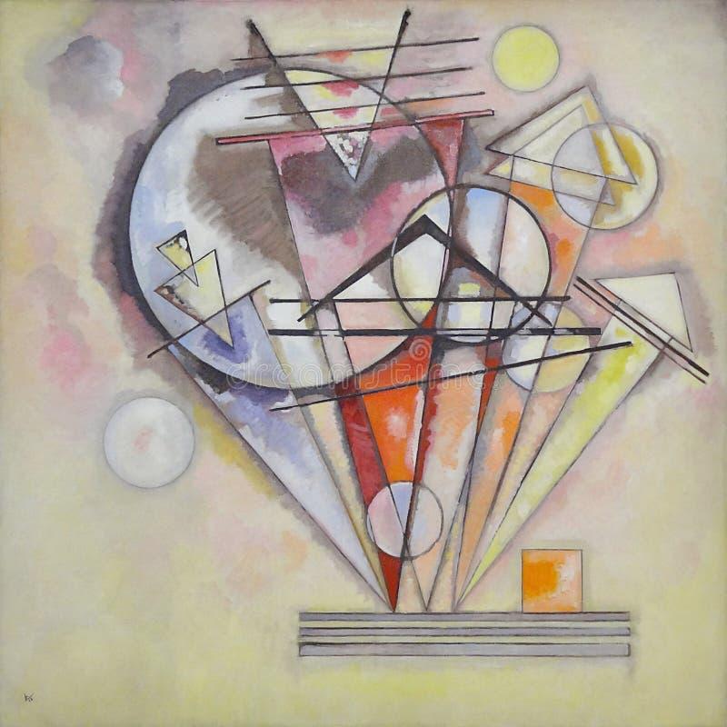 """"""" ; Les forces d'appoint spitzen ( ; Les pointes) de Sur ; """" ; , Vassily Kandinsky, 1920-1922 Centre Pompidou, Pa image stock"""