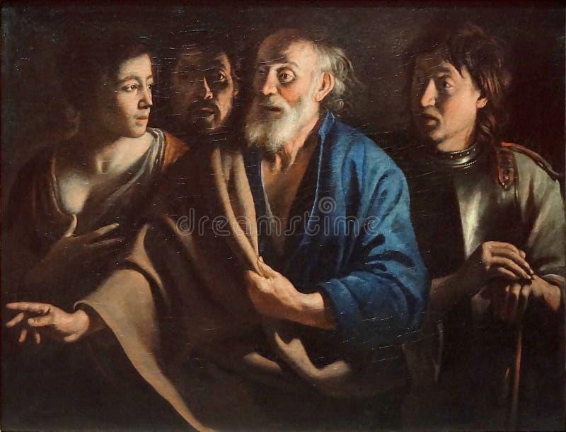 """"""" ; Saint Pierre """" de Le Reniement de ; , Mathieu Le Nain, vers 1655 Musée du Louvre photos libres de droits"""