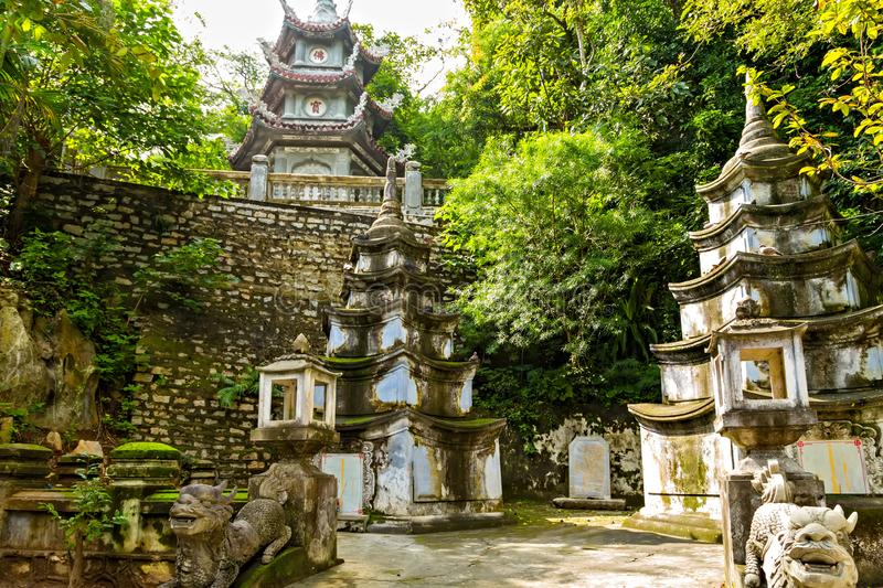 Xa Loi Pagoda of the Chinese Temple Architecture Vietnam – Danang's Cave. Xa Loi Pagoda of the Chinese Temple Architecture, Marble Mountains Da royalty free stock images