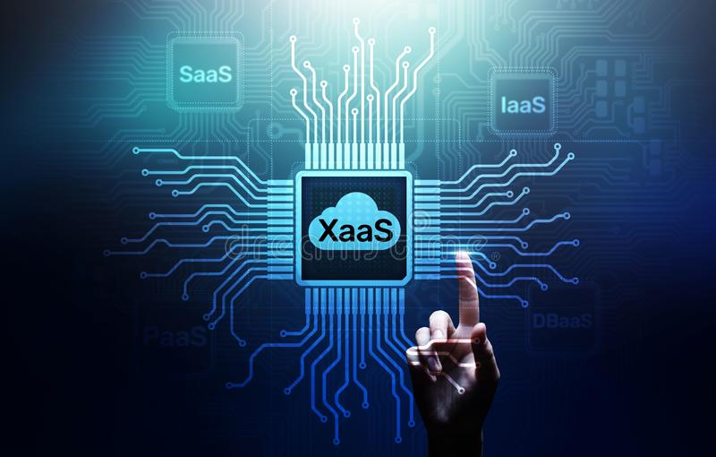 XaaS PaaS SaaS IaaS DBaaS Infrasstructure Service Data Base Platform development solution for business. XaaS PaaS SaaS IaaS DBaaS Infrasstructure Service Data royalty free stock image
