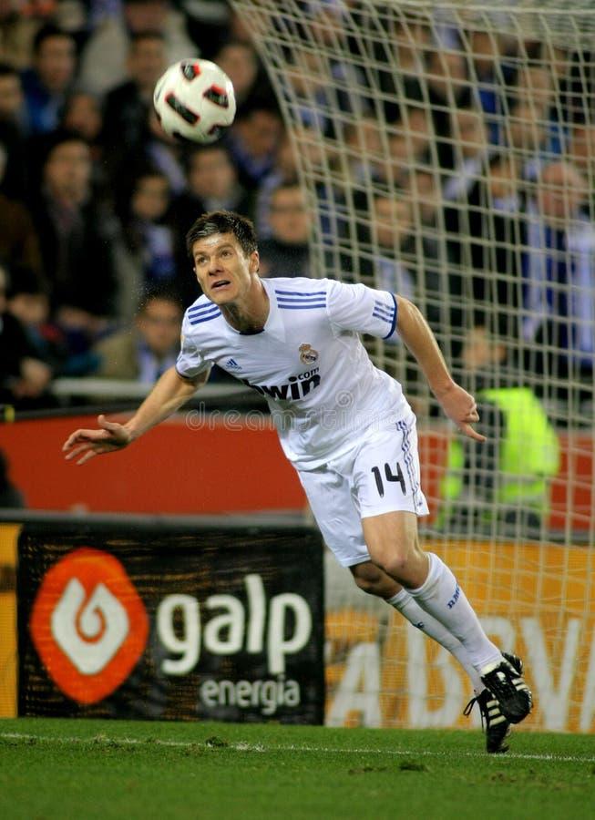Xabi Alonso von Real Madrid stockbilder
