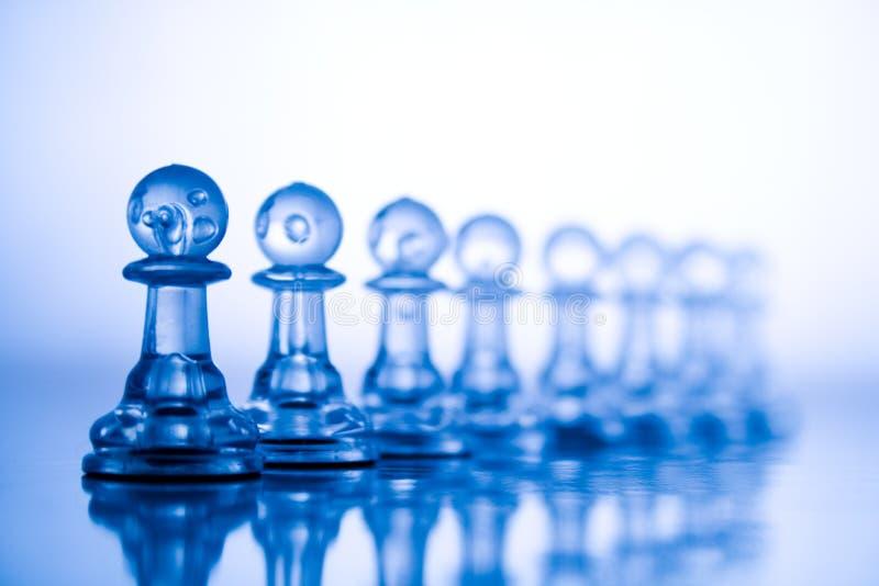 Xadrez azul transparente foto de stock royalty free