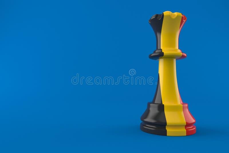 Xadrez com bandeira belga ilustração royalty free