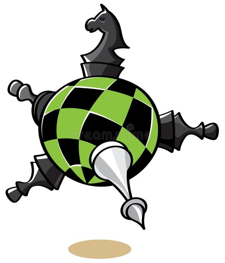 Xadrez do planeta ilustração royalty free