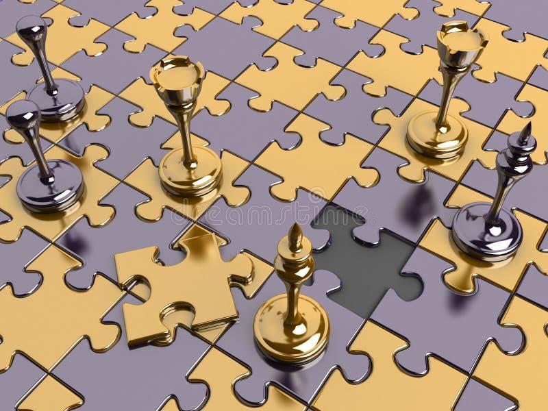 Xadrez em uma placa do enigma ilustração do vetor
