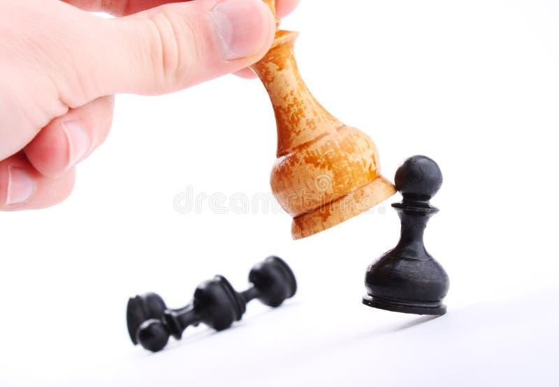 Xadrez. Estratégia empresarial. Isolado fotos de stock royalty free
