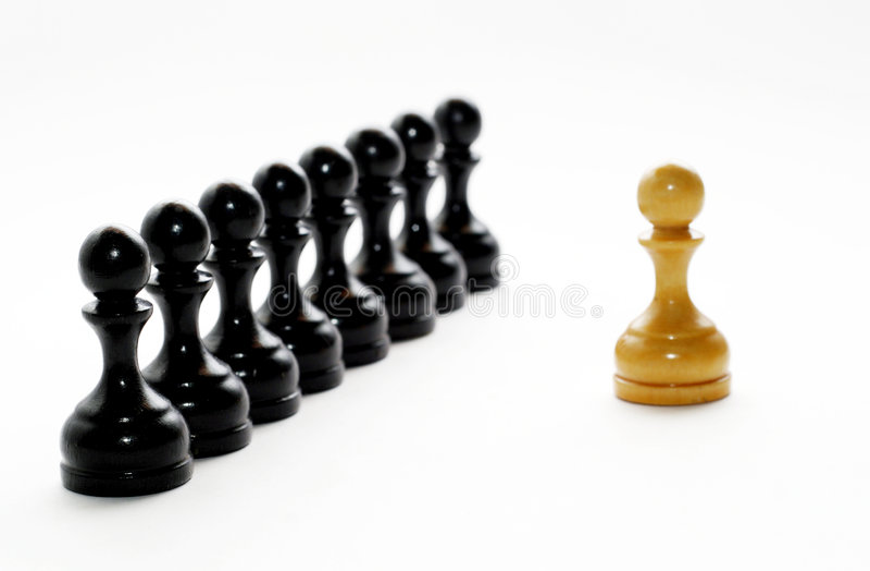 A xadrez figura bishops imagens de stock royalty free