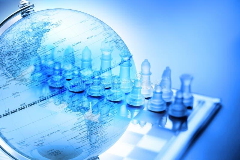 Xadrez global da estratégia do negócio ilustração stock