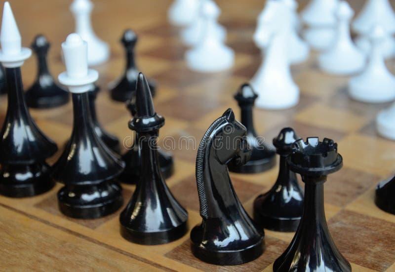 Xadrez Início de uma estratégia Placa Chess fotografia de stock royalty free