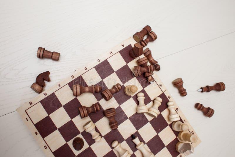Xadrez na tabela imagens de stock royalty free
