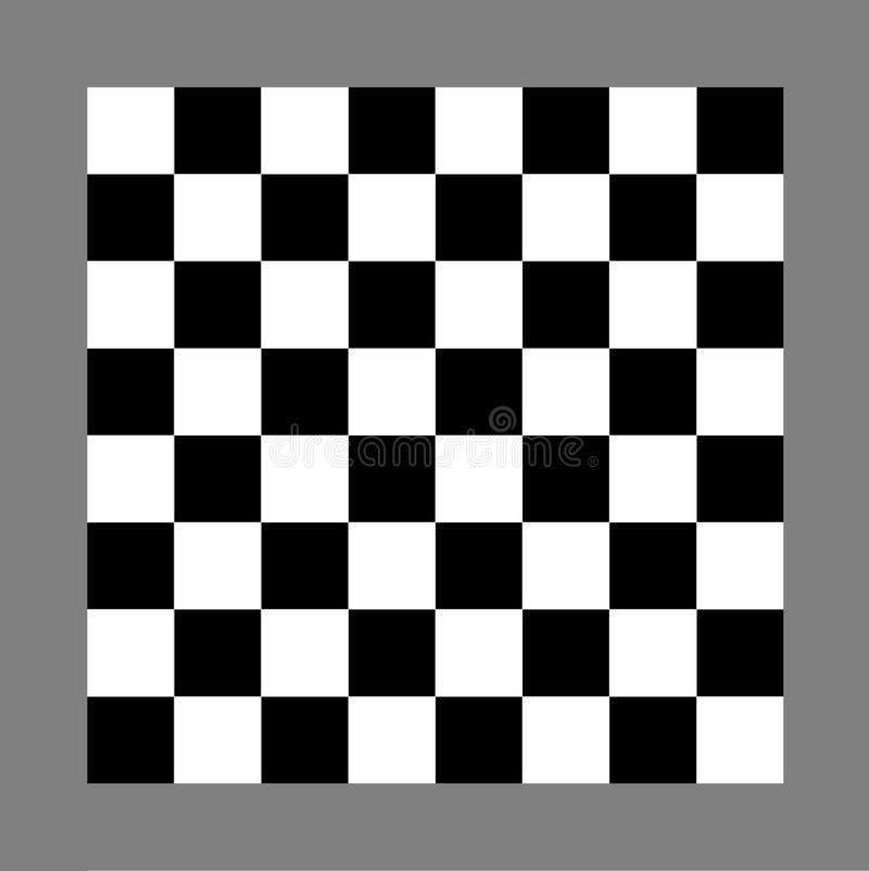 Xadrez ou placa de verificadores ilustração royalty free
