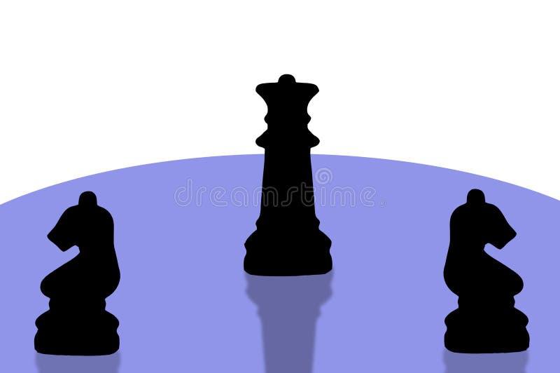 Xadrez pieces-8 ilustração do vetor