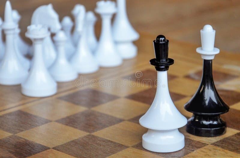 Xadrez Placa Chess Chess King A Correspondência fotografia de stock royalty free