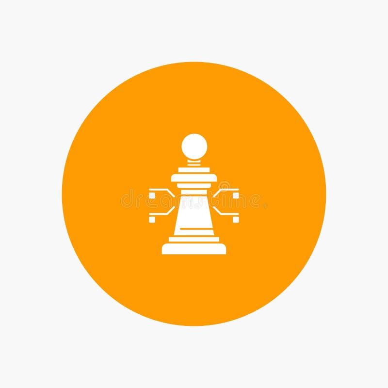 Xadrez, portátil, estratégia, jogo ilustração stock
