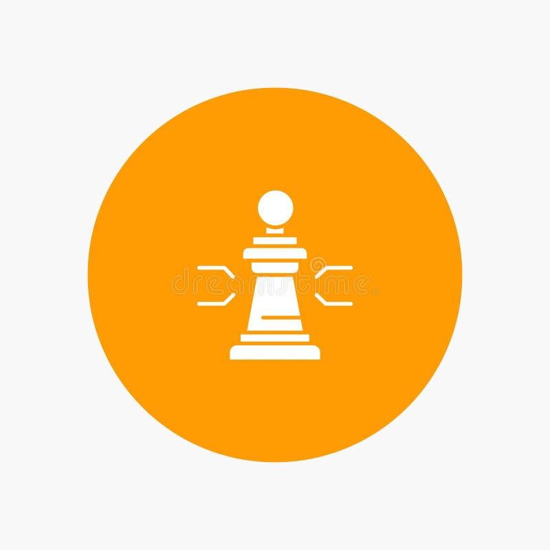 Xadrez, vantagem, negócio, figuras, jogo, estratégia, tática ilustração do vetor