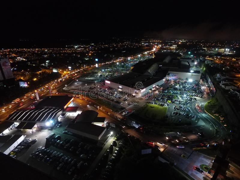 Xalapa, Veracruz en la noche Rea del ¡de los Animas à de Las fotos de archivo