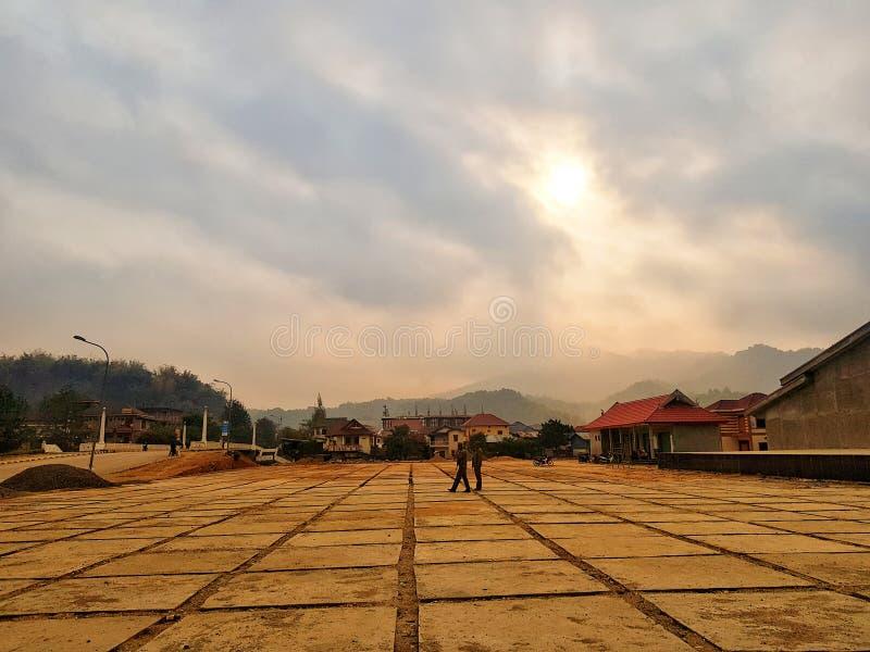Xamnue Phongsali landskap, Laos fotografering för bildbyråer