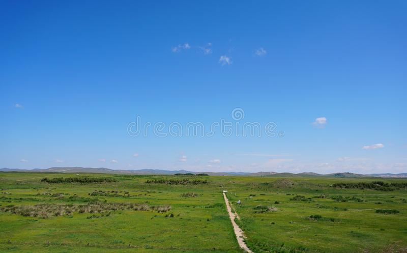 Xanadu of the Yuan Dynasty. , located in the Xilin Gol area of Inner Mongolia, China, is the capital of the Chinese Yuan Dynasty royalty free stock image