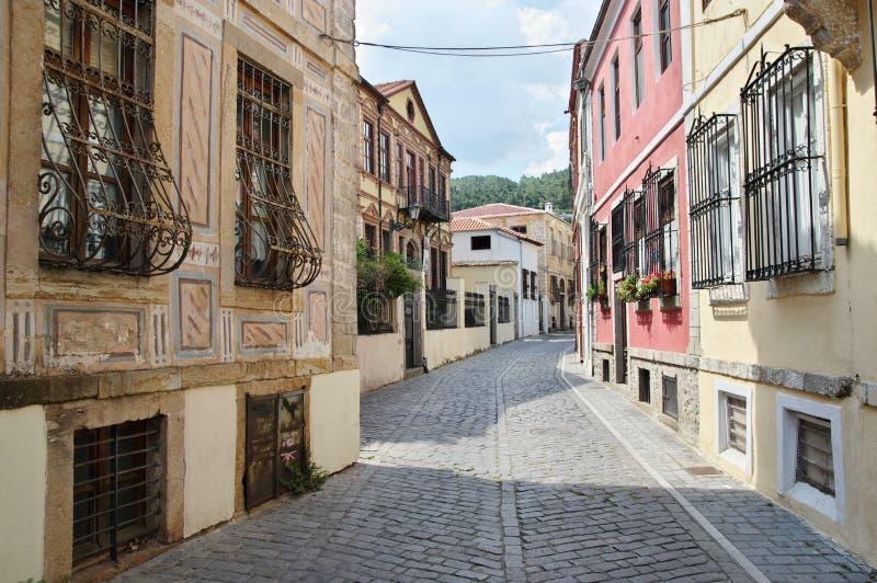 Xanthi, ciudad vieja imagen de archivo