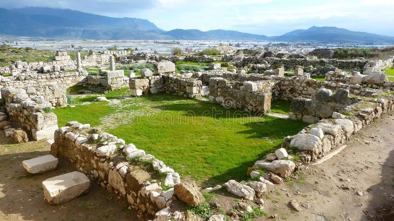 Xanthos废墟在土耳其 免版税库存照片