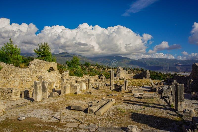 Xanthos ancient city. The ruins of ancient city of Xanthos - Letoon Xantos, Xhantos, Xanths in Lycian way, Kas, Antalya/Turkey royalty free stock photography