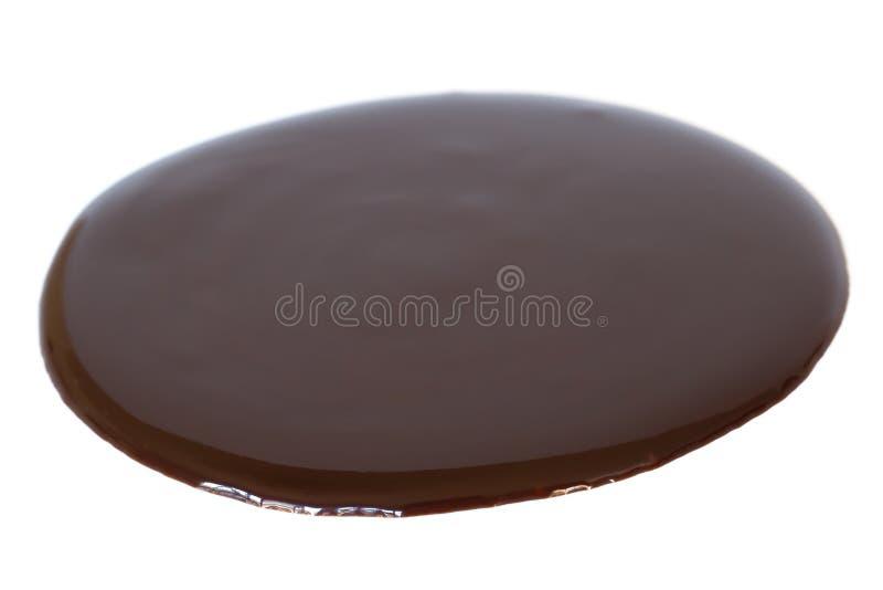 Xarope de chocolate fotografia de stock royalty free