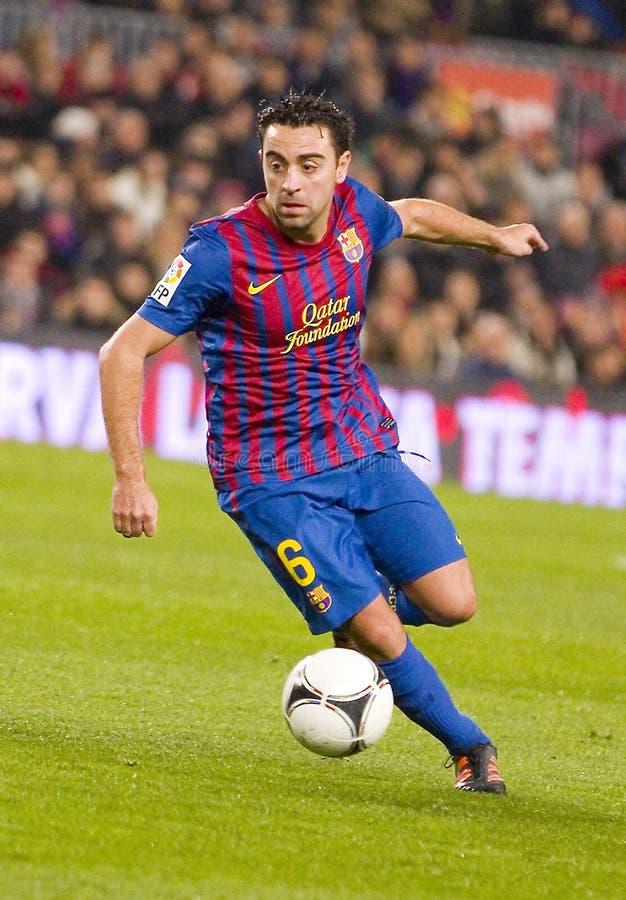 Xavi de FC Barcelone images stock