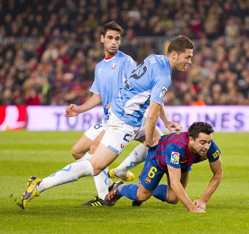 Xavi del FC Barcelona fotografía de archivo