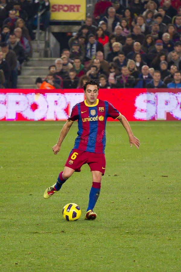 Xavi (FC Barcelona) lizenzfreie stockfotos