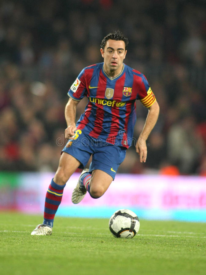 Xavi Hernandez de FC Barcelone images libres de droits