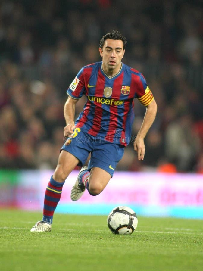 Xavi Hernandez of FC Barcelona royalty free stock images