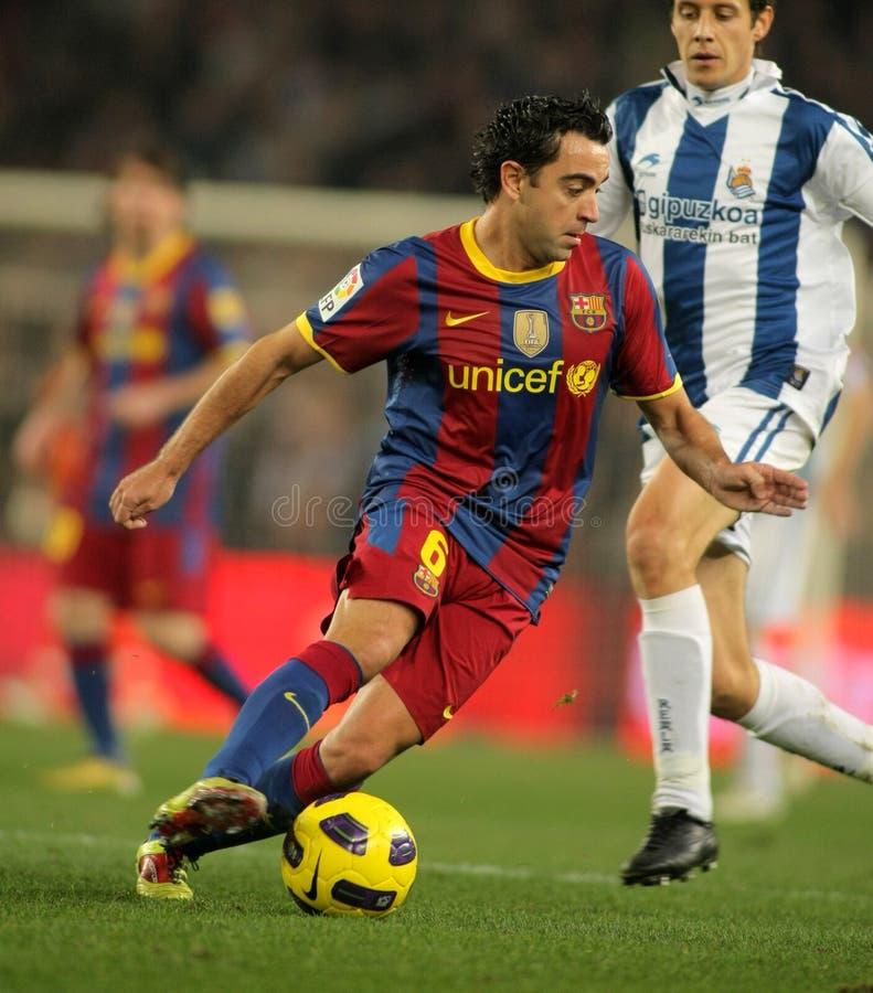 Xavi Hernandez von Barcelona lizenzfreie stockfotos