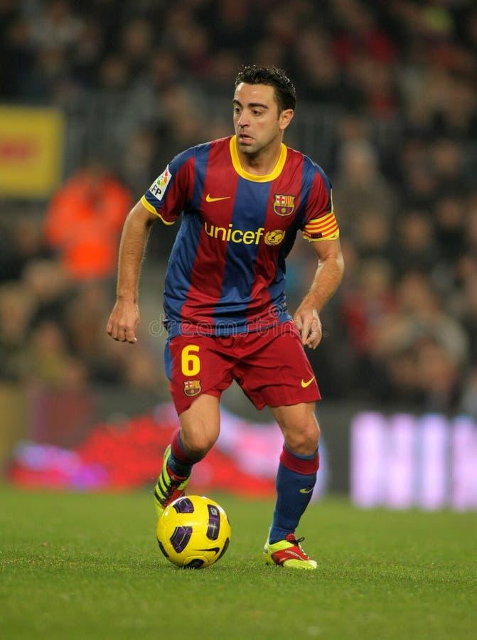 Xavi Hernandez von Barcelona stockfotografie
