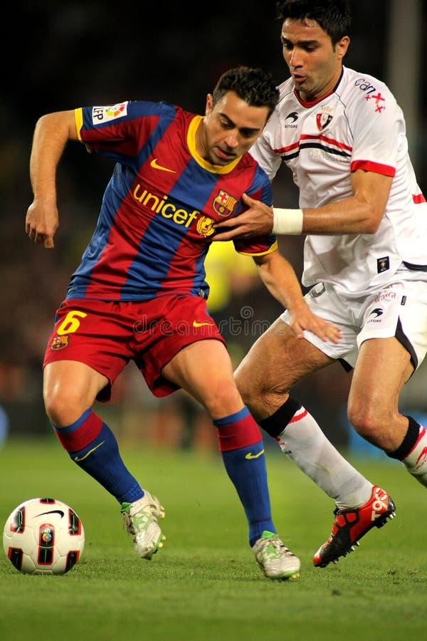 Xavi Hernandez von Barcelona lizenzfreie stockfotografie