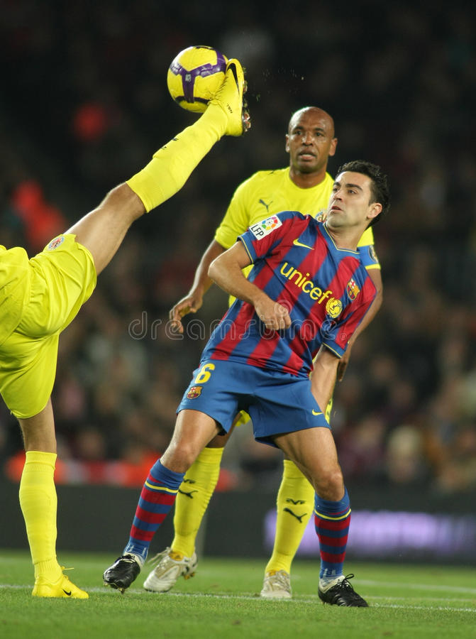 Xavi Hernandez von FC Barcelona stockfotos