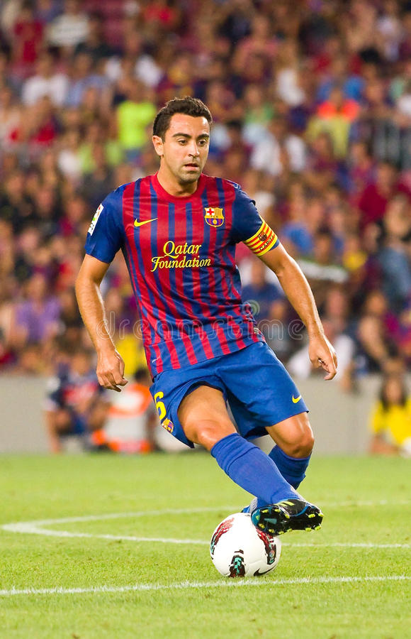 Xavi von FC Barcelona lizenzfreie stockfotografie