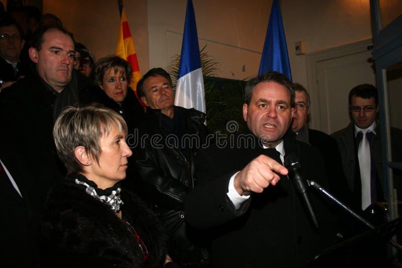 Xavier Bertrand du ministre français photos stock