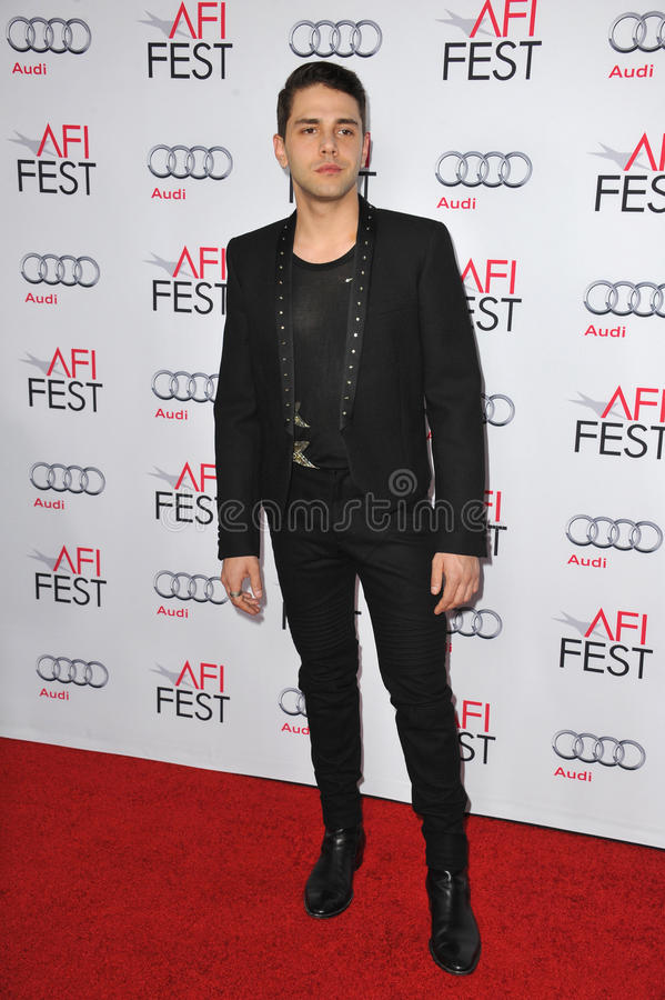 Xavier Dolan. LOS ANGELES, CA - NOVEMBER 12, 2014: Director/writer Xavier Dolan at the premiere of his movie Mommy as part of the AFI FEST 2014 at the Dolby royalty free stock photo